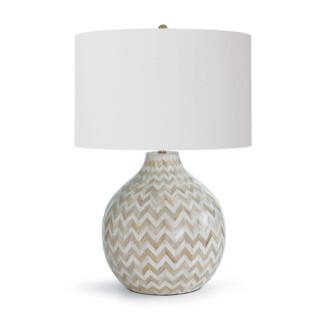 Chevron Bone Lamp