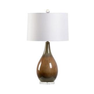 Faux Bois Lamp Brown
