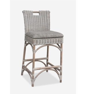 Natural Rattan Counter Stool Grey Wash