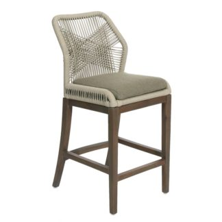 Gray Fiddler Counter Stool