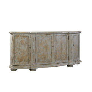Washed Blue Briquette Sideboard