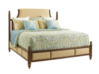 Orchid Bay Upholstered Panel Bed 6/6 King