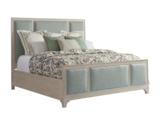 Crystal Cove Upholstered Panel Bed 6/6 King