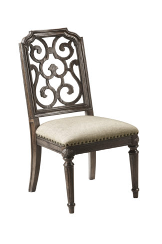 Vintage Salvage - Tristan Fret Back Side Chair