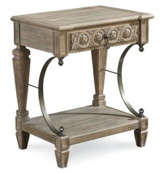 Arch Salvage - Gabriel Bedside Table - Parch
