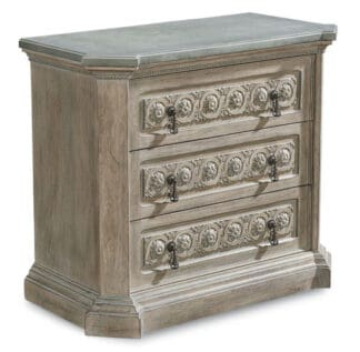 Arch Salvage - Gabriel Bedside Chest - Parch