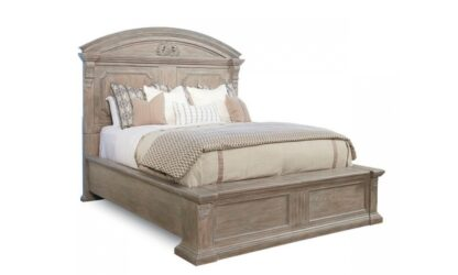 Arch Salvage - 5/0 Chambers Panel Bed - Parch