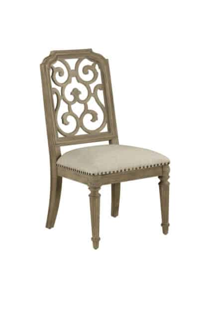 Arch Salvage - Tristan Fret Back Side Chair