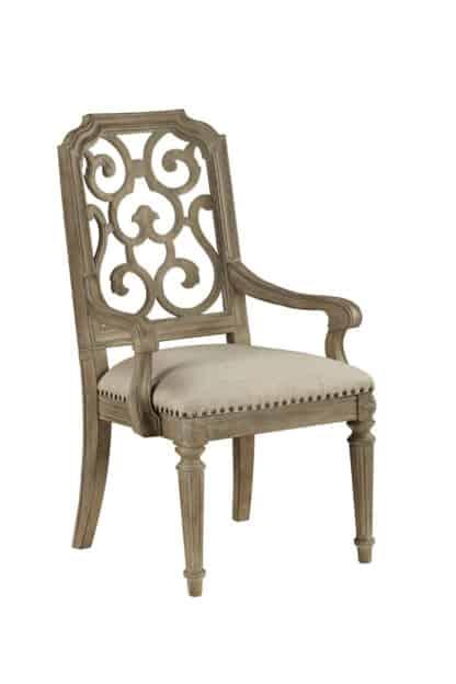 Arch Salvage - Tristan Fret Back Arm Chair