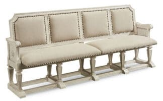 Arch Salvage - Becket Dining Bench - Cirrus