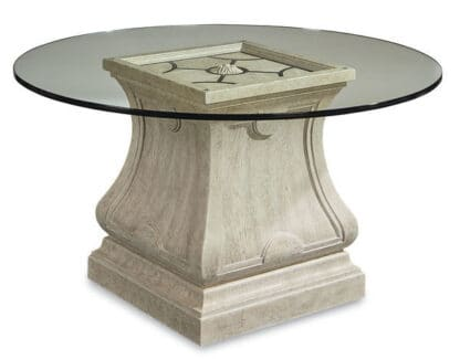 Arch Salvage -  Leoni Round Dining 60in Glass Top