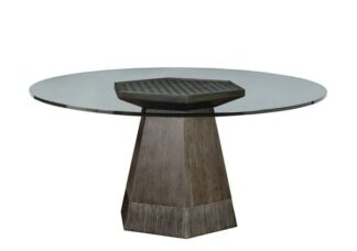 "Geode - Bluff Dining Table w/ 60"" Glass Top"