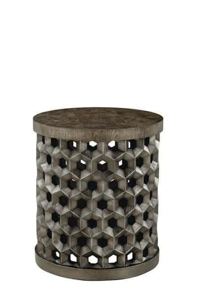 Geode - Tanzanite Drum Table