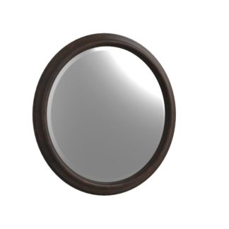 Bryan - Round - Mirror - Dark Cherry