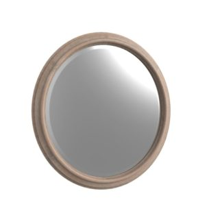 Bryan - Round - Mirror - Weathered Oak