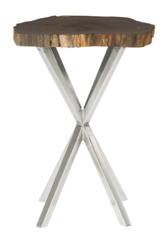 Black Petrified Chairside Table
