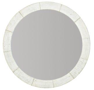 Piper Round Mirror (Brushed White finish)
