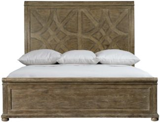Rustic Patina California King Panel Bed